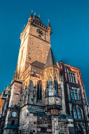 The Old Town Hall with astronomical clock from side