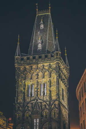 Guard tower at night, Prague Reklamní fotografie