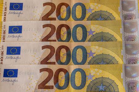 A few 200 euro bills
