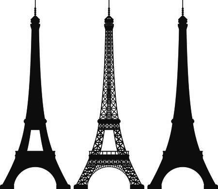 eiffel tower: Torre Vectores