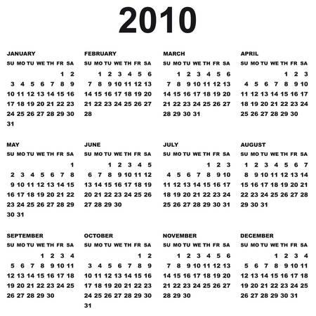calendar 2010 Stock Vector - 5363166