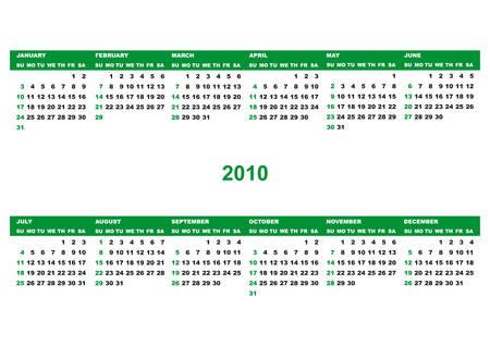 Green calendar Stock Vector - 5363165