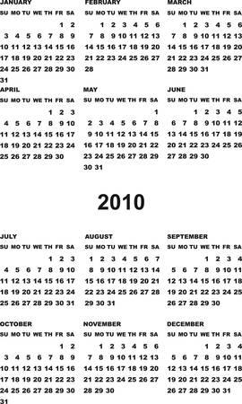 Vertical calendar Stock Vector - 5363167