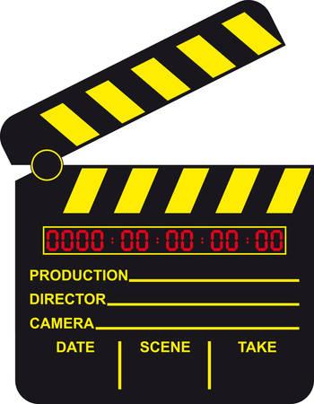 Digital Movie Clapboard Vector