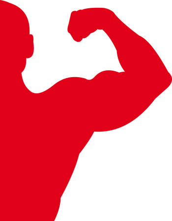 biceps: Sport Red Illustration