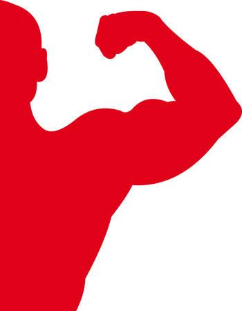 trizeps: Sport-rot Illustration