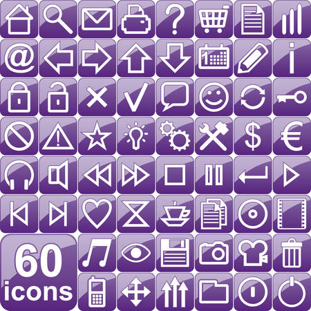 Violet icons Stock Vector - 5540957