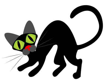 Black cat silhouette for your design Stock Vector - 6660463