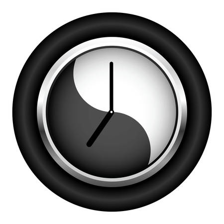 12 o'clock: Office clock. It is isolated on a white background.