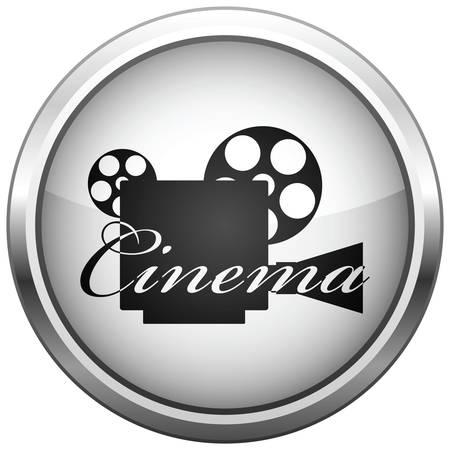 Symbol (Schaltfl�che). Die Videokamera-Silhouette.  Illustration