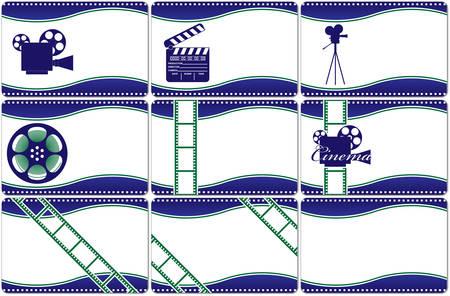 Auflistung horizontale Visitenkarten. Video der industry.illustration.