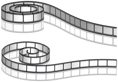 Zwei Filmstreifen  Illustration