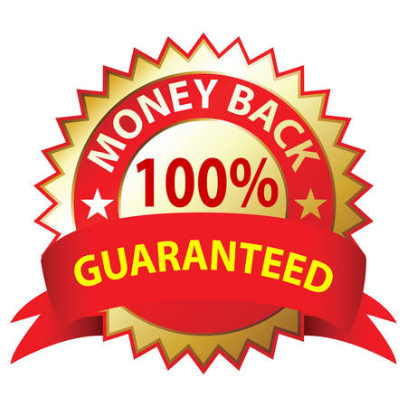 Money Back Guaranteed, a white background, illustration