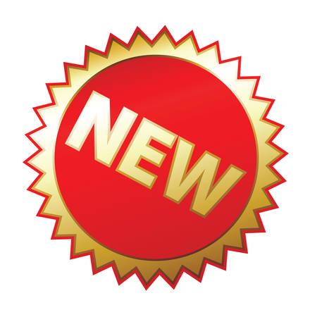 rotund: New sticker, a white background, illustration Illustration