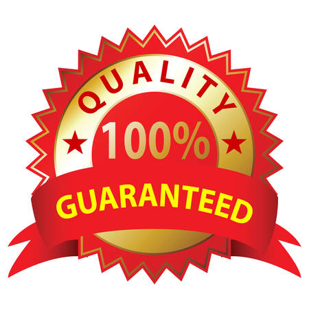 Quality Guaranteed,  a white background, illustration Vector