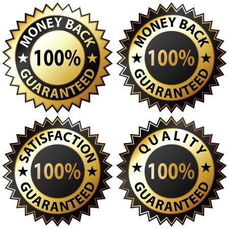 Geld zur�ck Garantie und 100 % Zufriedenheit garantiert anmelden Satz