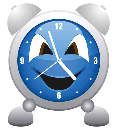 classes schedule: Cheerful alarm clock, it is easy to edit and change. Illustration