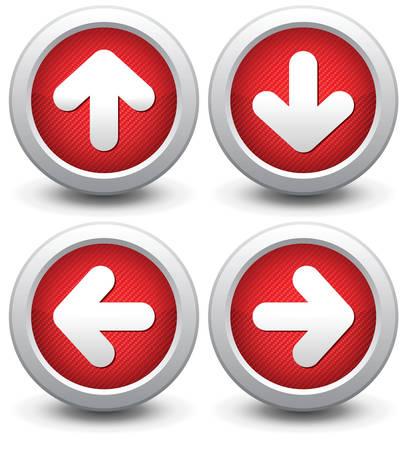 flecha derecha: Botón para un sitio web. Ilustración, es fácil de editar y cambiar.