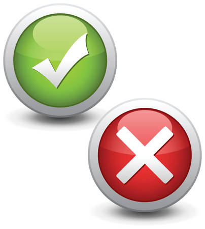 Check mark buttons. Vector