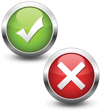 tick mark: Botones de la marca de verificaci�n.