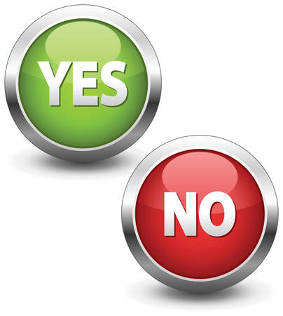 Colorful set of Yes/No buttons Stock Vector - 7099125