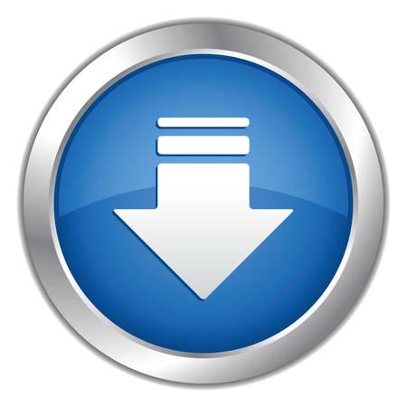 Web 2. 0 blauwe knop. Vector illustratie. Vector Illustratie