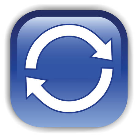 The dark blue button for a site web.  Vector