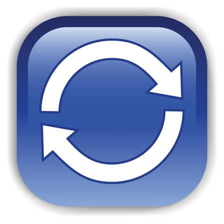 Web サイトの濃い青のボタン。