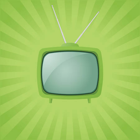 retro tv: green retro tv Illustration