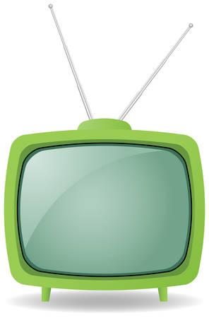 gr�ne retro Fernsehen Illustration