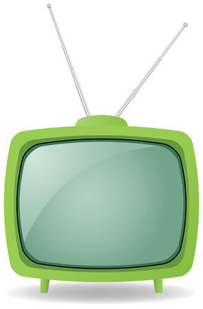 green retro tv Vector