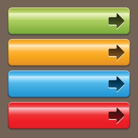 the arrow: Botones con el s�mbolo de la flecha sobre un fondo oscuro