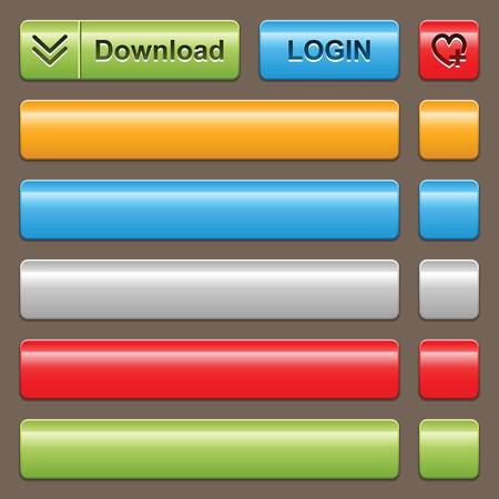 knop: lege web 2.0-knop op donkere achtergrond