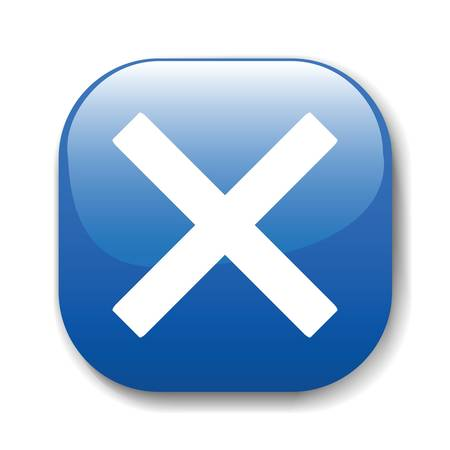 exit: The dark blue button for a site web. A vector illustration, it is easy to edit and change.