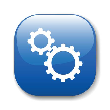 configuration: The dark blue button for a site web. A vector illustration, it is easy to edit and change.
