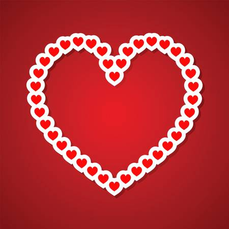 vector hearts: Valentines day vector background with abstract hearts