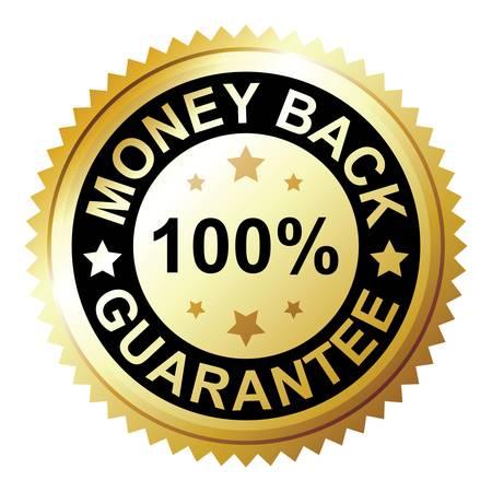 guarantee seal: Garant�a de Devoluci�n del Dinero Vectores