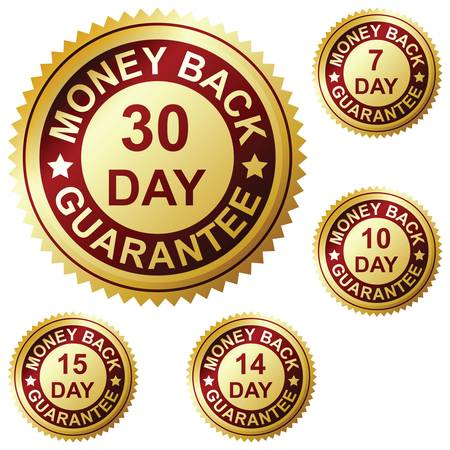 money back: Money back guarantee Illustration