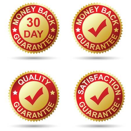 Gouden label Stock Illustratie