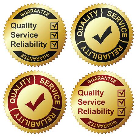 quality service: Labels