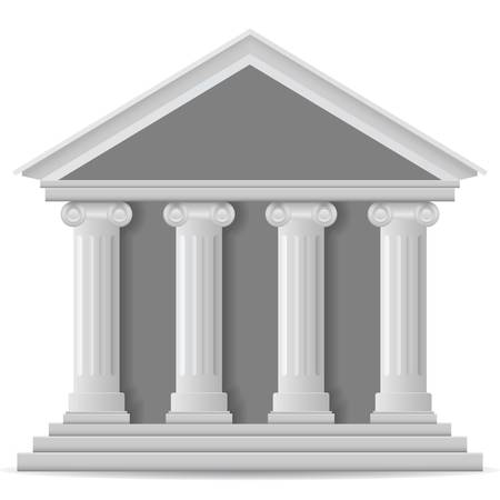 Bank icon, vector eps version 8 Vector