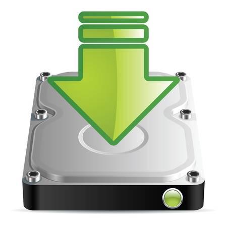 hard disk drive: Download icon, Illustration