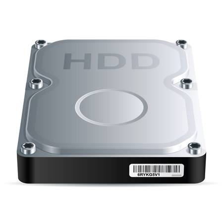 Hard disk drive  HDD , vector EPS 8
