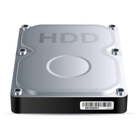disco duro: Unidad de disco duro HDD, vector EPS 8 Vectores