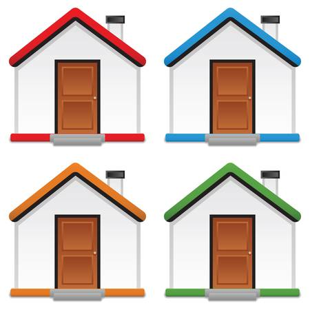 set of icon home, vector illustration Stock Vector - 17307592