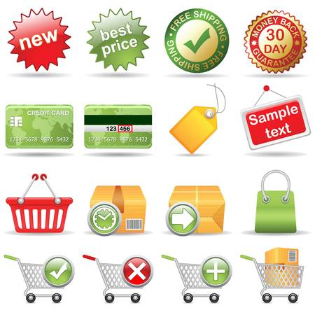 Online Store, vector EPS version 8 Vector