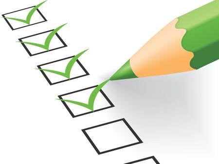 amendment: Compruebe Vector lista ilustraci�n EPS versi�n 8 Vectores