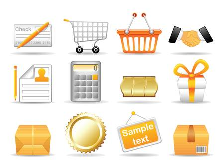 Collection of icons for online store  Vector EPS 8  Stock Vector - 17307612