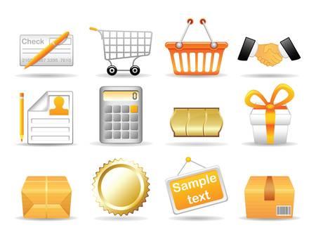 Het verzamelen van pictogrammen voor online winkel Vector, EPS, 8 Vector Illustratie