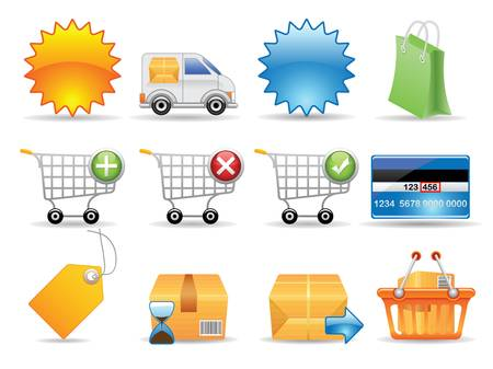 delivering: Collection of icons for online store  Illustration